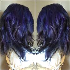 smokey amethyst metallic color melt hair hairart mermaid