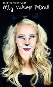 Kitty Faces For Halloween by Easy Kitty Cat Or Leopard Makeup Tutorial Twist Me Pretty