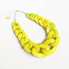 chain link necklace chunky images Yellow chain link necklace oversized statement necklace etsy jpg