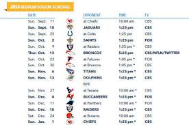 san diego chargers 2016 schedule announced los angeles chargers