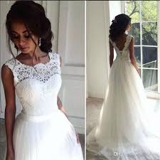 bargain wedding dresses uk discount new style weeding dress a line neck top lace
