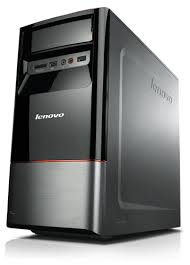pc bureau lenovo lenovo ideacentre h430 25581cu desktop black brushed aluminum 19