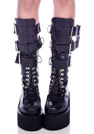 buckle motorcycle boots 3 buckle calf creeper boots creeper boots creepers and boy london