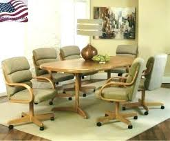 dining table with caster chairs dining chair caster waterprotectors info