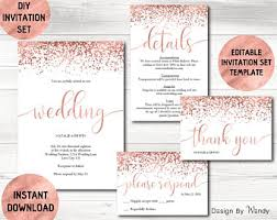 invitation wedding template wedding invites etsy