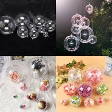 10pcs clear christmas plastic bauble balls wedding xmas tree