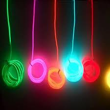 wholesale 2m copper el wire neon light car diy shape