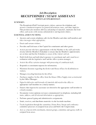 Job Duties Of A Receptionist For Resume by Sample Resume Medical Receptionist How Write Application Letter