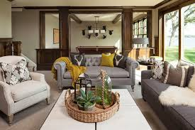 chesterfield sofa decor living room farmhouse with exposed wood