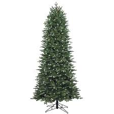 slim christmas tree with led colored lights shop ge 7 5 ft pre lit aspen fir slim artificial christmas tree with
