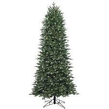 shop ge 7 5 ft pre lit aspen fir slim artificial christmas tree