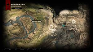 Dragon Age World Map by Dragon Age Inquisition Frostback Basin Two Veil Quartz One