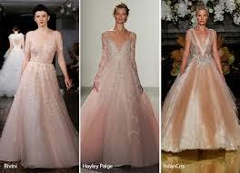 blush wedding dress trend fall 2017 bridal fashion trends fashionisers