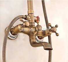 Brass Shower Faucets Wholesale And Retail Promotion New Luxury Antique Brass Wall