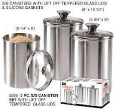 oggi kitchen canisters kitchen canisters stainless steel decorating clear