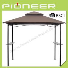 bbq tent roof bbq wrought iron gazebo with bar table sun shelter and