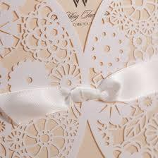 Weddings Invitation Cards Amazon Com Wishmade 50x Laser Cut Trifold Lace Sleeve Wedding