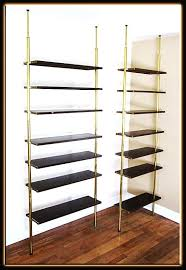 Vertical Tension Rod Room Divider Pole Lamps With Shelves Lamps And Lighting