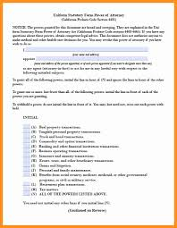 Statutory Power Of Attorney by 12 Financial Power Of Attorney Form California Scholarship Letter