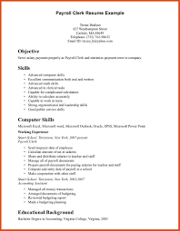 Job Description Of Cashier For Resume by Payroll Clerk Job Description For Resume Free Resume Example And