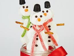 snowman marshmallows peppermint marshmallow snowmen recipe food network kitchen