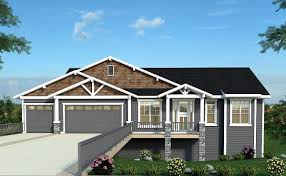 exclusive craftsman house plan with sports court and attached