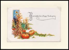 best wishes thanksgiving vintage greeting card maureen