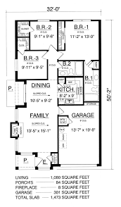 Price To Draw Original Home Floor Plan 1870 Sq Feet I House Plan 60804 At Familyhomeplans Com