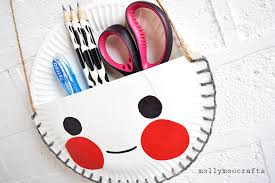 Desk Organiser For Kids Mollymoocrafts Paper Plate Craft The Cutest Desk Tidy