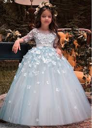 flower girl dresses buy discount unique tulle bateau neckline half sleeves gown