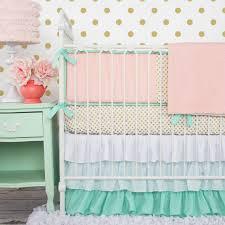 Girly Crib Bedding Furniture Baby Bumpers Pink Crib Bedding Sets Nursery Decor