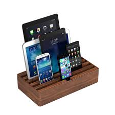 Smartphone Charging Station Universal Charging Station Walnut Large All Dock Touch Of