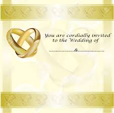 Invitation Card With Photo A Wedding Invitation Card With Intertwined Gold Rings And Room