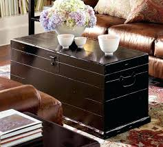 Trunk Style Coffee Table Black Trunk Coffee Table Living Room With Black Sofa And
