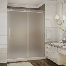 frameless shower glass doors frosted shower doors showers the home depot