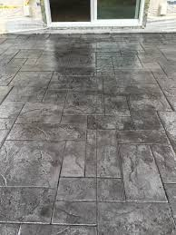 Concrete Patio Color Ideas by Stamped Concrete Patio Medium Grey Color With Black Release