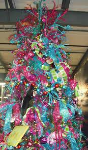 pink and purple christmas tree christmas lights decoration