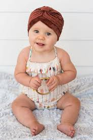 baby headwrap baby velvet turban three bird nest