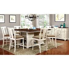 counter height table sets with 8 chairs counter height table sets transitional white and cherry counter