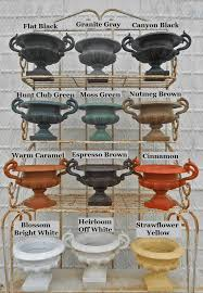 cast iron and cast aluminum color samples