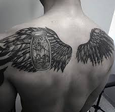 Wing Back Tattoos For - 50 cool back tattoos for expansive canvas design ideas