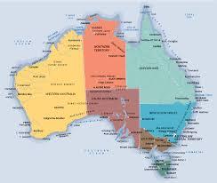map of australia political map