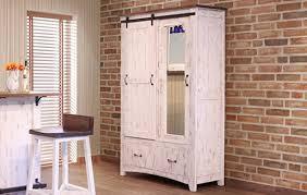 Door Armoire International Furniture Pueblo White 2 Drawer 1 Sliding Door 1