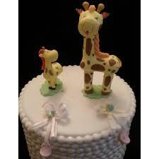mommy giraffe and baby cake topper baby giraffe mommy giraffe