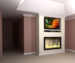 contemporary built in tv u0026 fireplace wall rendering nick miller