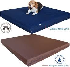 dogbed4less extra large orthopedic memory foam dog bed waterproof
