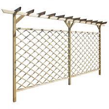 vidaxl co uk garden lattice fence with pergola top