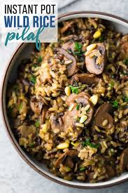 instant cuisine instant pot rice pilaf with mushrooms and pine nuts