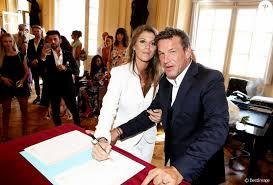 mariage en mairie exclusif benjamin castaldi et sa femme aurore aleman mairie