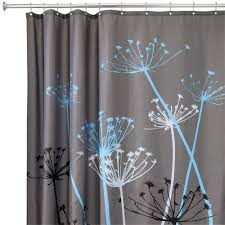 Shower Curtains With Matching Accessories Interdesign Thistle 72 In X 72 In Shower Curtain In Gray Blue